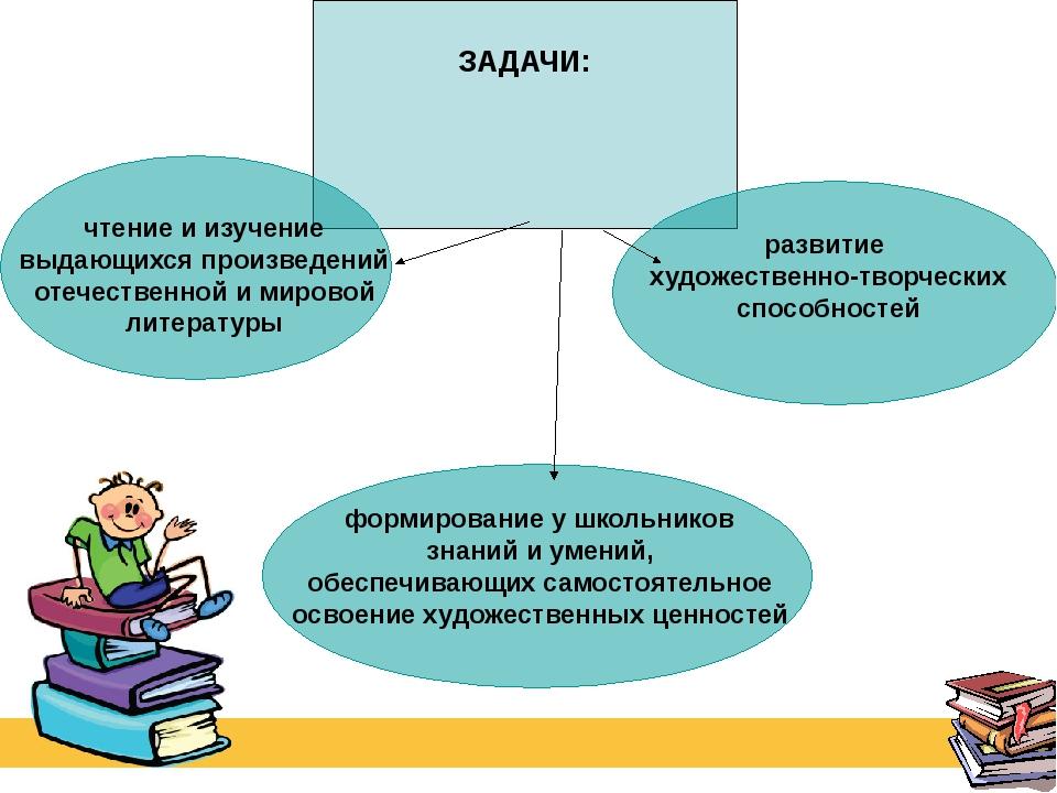 ЗАДАЧИ: чтение и изучение выдающихся произведений отечественной и мировой ли...