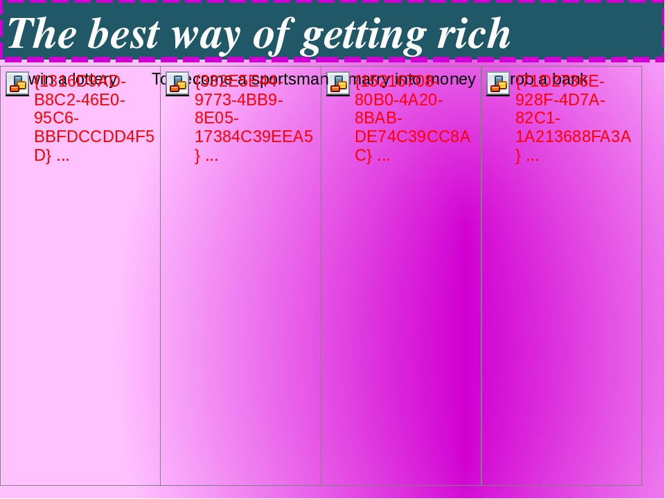 The best way of getting rich