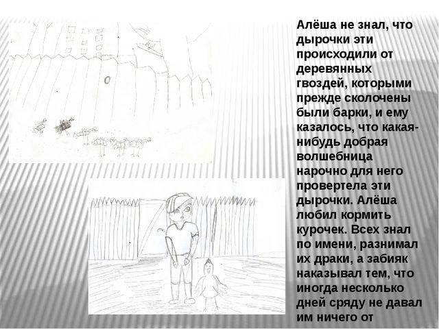 Алёша не знал, что дырочки эти происходили от деревянных гвоздей, которыми пр...