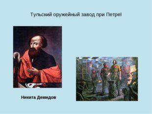 Тульский оружейный завод при ПетреI Никита Демидов