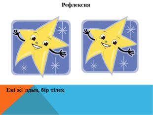 Рефлексия Екі жұлдыз, бір тілек