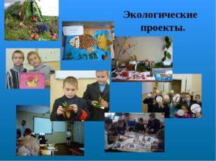 Экологические проекты.