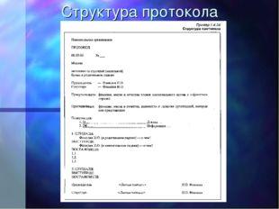 Структура протокола