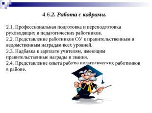 4.6.2. Работа с кадрами. 2.1. Профессиональная подготовка и переподготовка ру