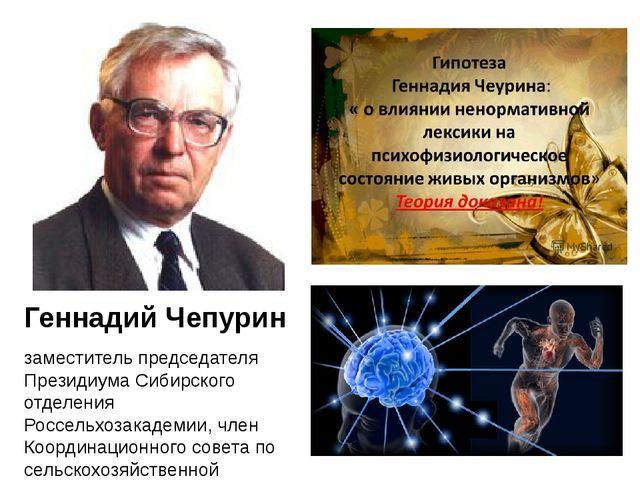 Геннадий Чепурин заместитель председателя Президиума Сибирского отделения Ро...