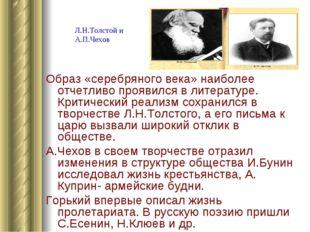 Образ «серебряного века» наиболее отчетливо проявился в литературе. Критическ