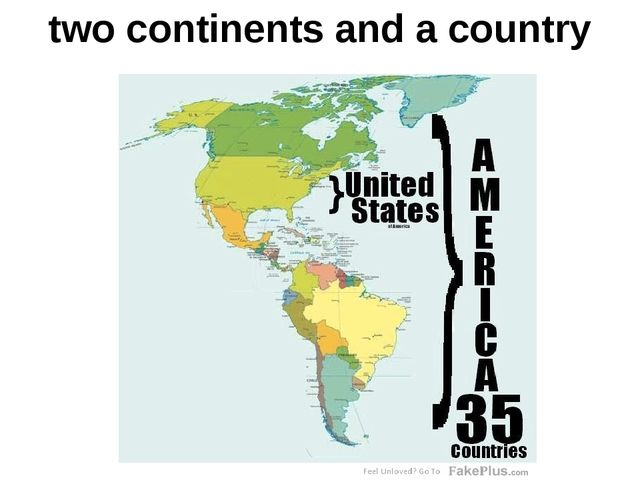 two continents and a country