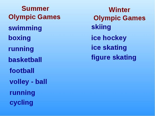 Winter Olympic Games Summer Olympic Games boxing swimming running football ic...