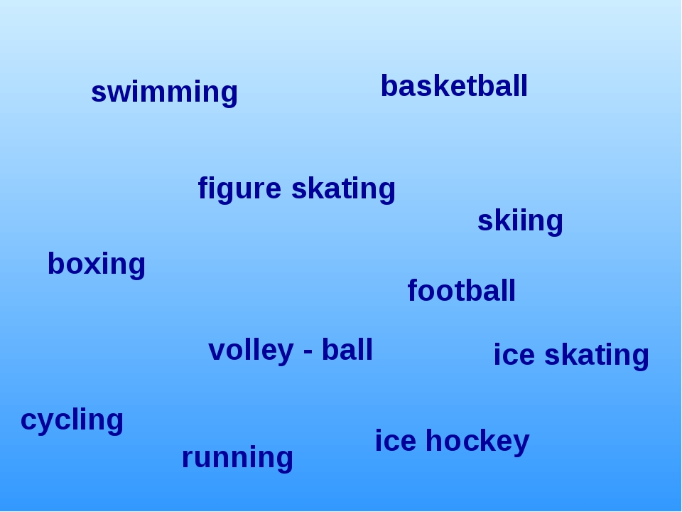 football boxing ice hockey figure skating cycling skiing ice skating basketba...