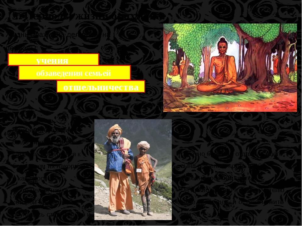 Жизнь брахмана делилась на периоды: 3. Периоды жизни брахмана. учения обзавед...