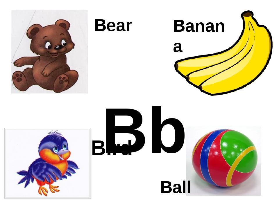 Bb Banana Bear Ball Bird