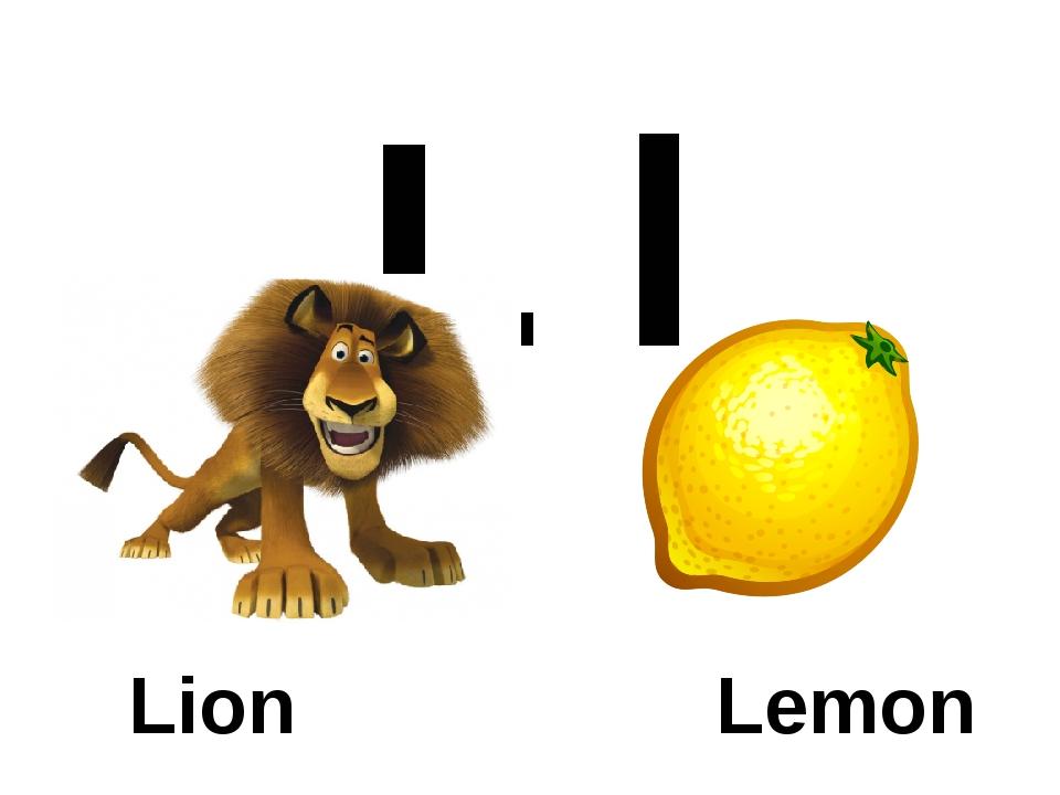 L l Lion Lemon