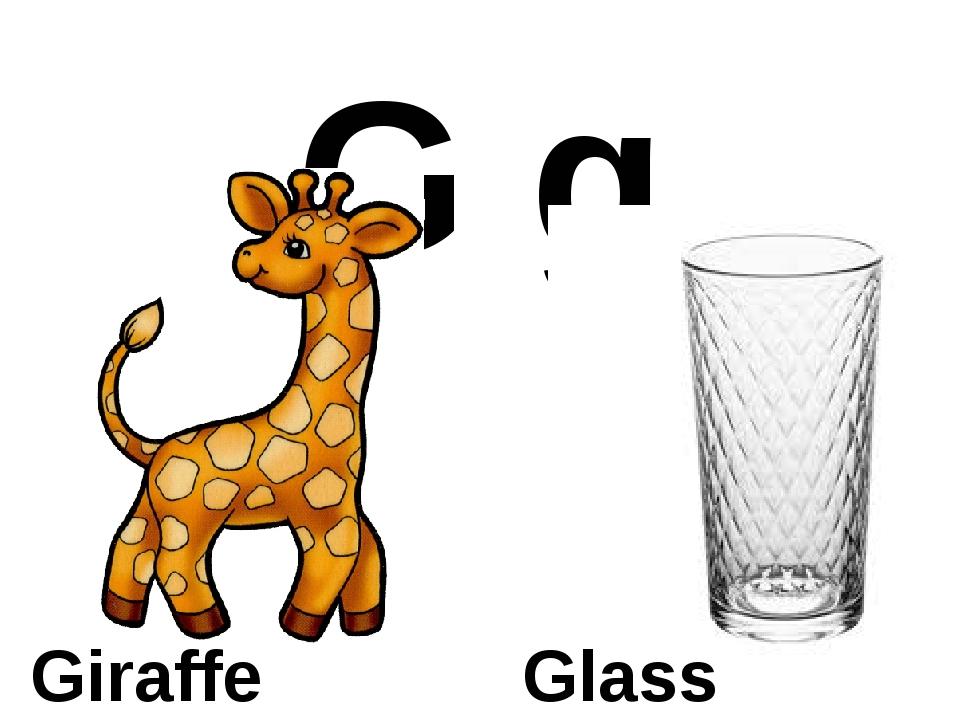 G g Giraffe Glass