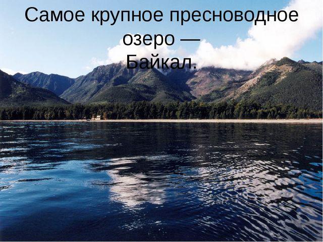 Самое крупное пресноводное озеро — Байкал.
