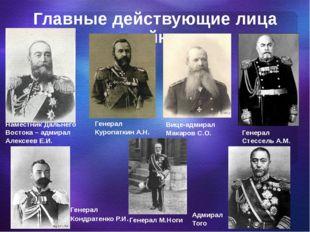 Главные действующие лица войны Наместник Дальнего Востока – адмирал Алексеев
