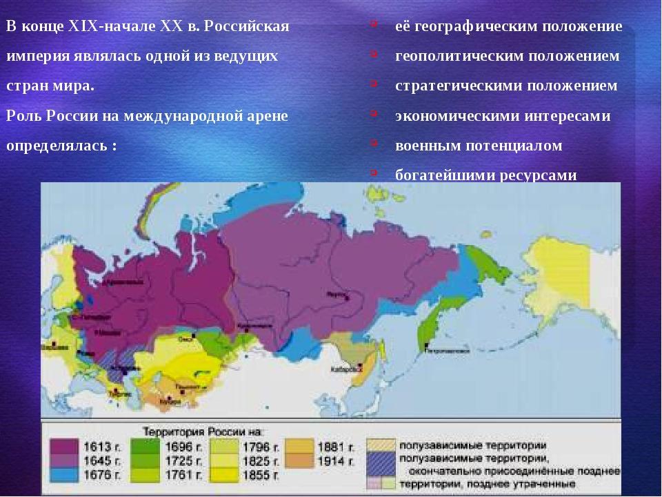 В конце XIX-начале XX в. Российская империя являлась одной из ведущих стран м...