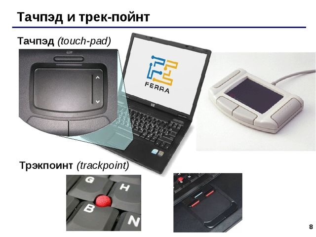 * Тачпэд и трек-пойнт Тачпэд (touch-pad) Трэкпоинт (trackpoint)