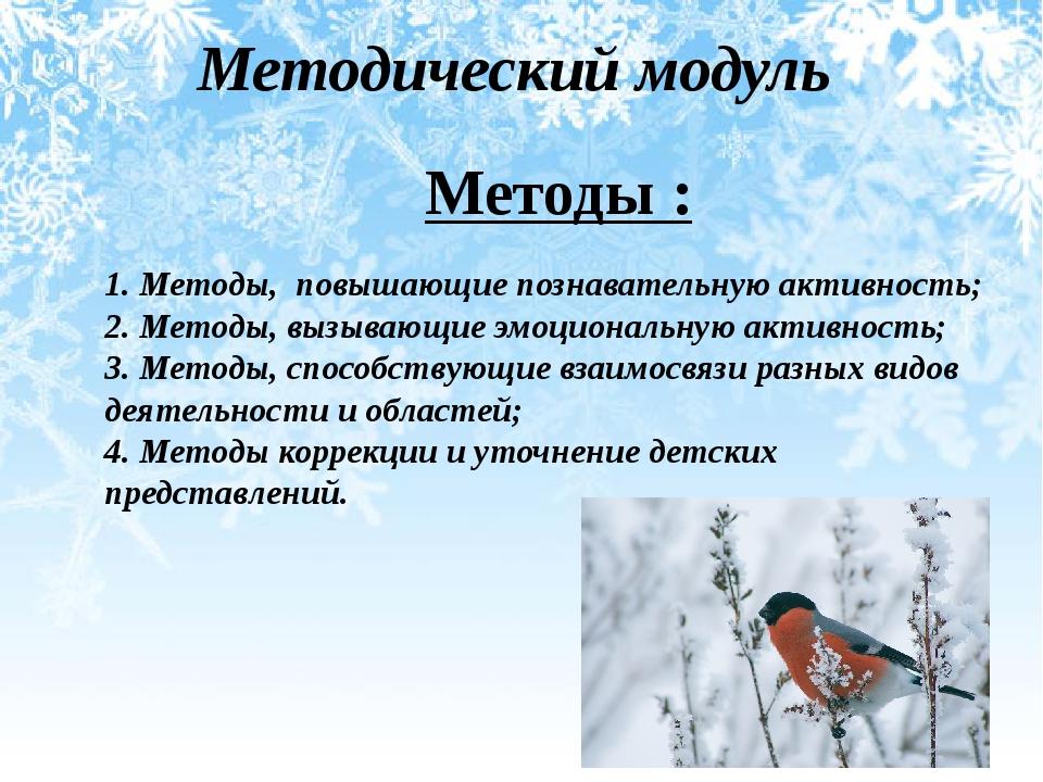 Методический модуль Методы : 1. Методы, повышающие познавательную активность;...