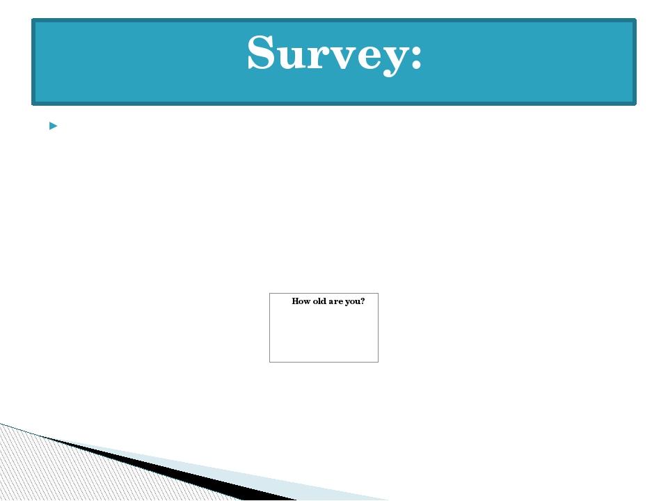 Survey:
