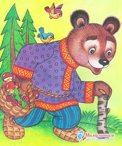 Медведь из сказки в рисунках