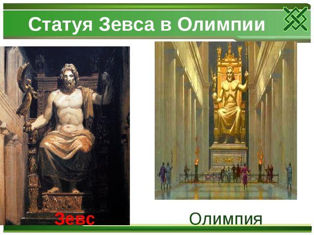Статуя Зевса в Олимпии Олимпия Зевс