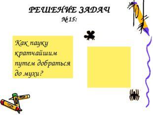 РЕШЕНИЕ ЗАДАЧ № 15: Как пауку кратчайшим путем добраться до мухи?