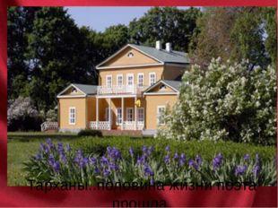 Тарханы..половина жизни поэта прошла в этом имении.