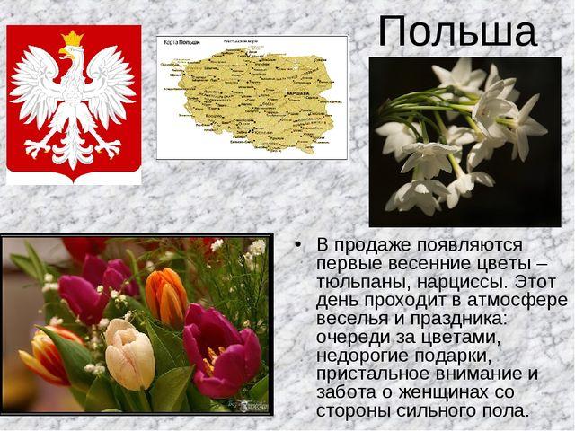 Польша В продаже появляются первые весенние цветы – тюльпаны, нарциссы. Этот...