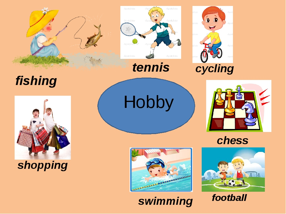 Hobby fishing tennis cycling shopping chess football swimming