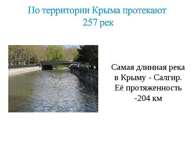 \ Самая длинная река в Крыму - Салгир. Её протяженность -204 км
