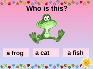 Who is this? a frog a cat a fish