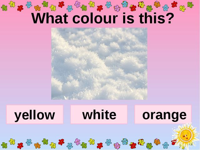 What colour is this? yellow orange white