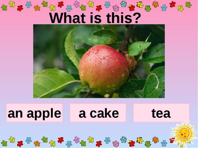 What is this? an apple a cake tea