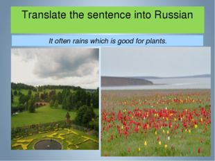 Translate the sentence into Russian It often rains which is good for plants.