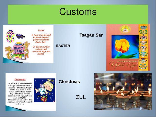 Customs EASTER Tsagan Sar Christmas ZUL