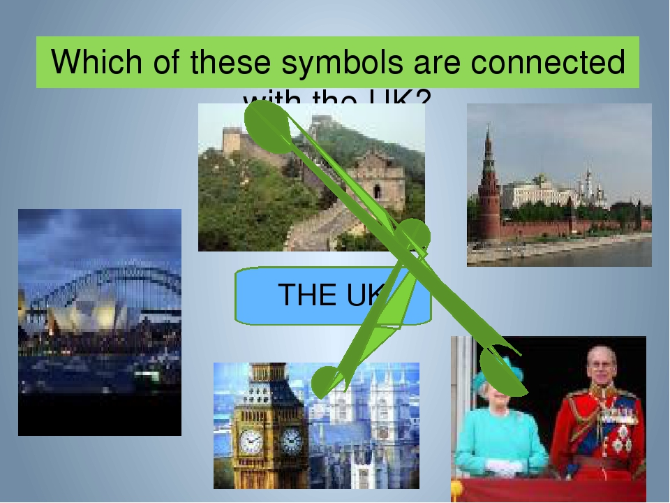 Which of these symbols are connected with the UK? THE UK
