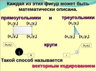 (х2;у2) (х3;у3) (х4;у4) (х3;у3) Каждая из этих фигур может быть математически
