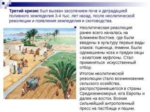 Третий кризисбыл вызван засолением почв и деградацией поливного земледелия 3