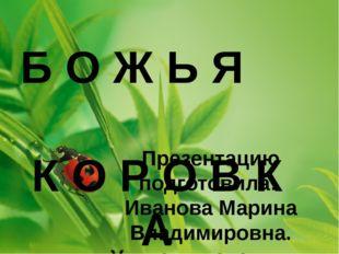 Презентацию подготовила: Иванова Марина Владимировна. Учитель начальных клас