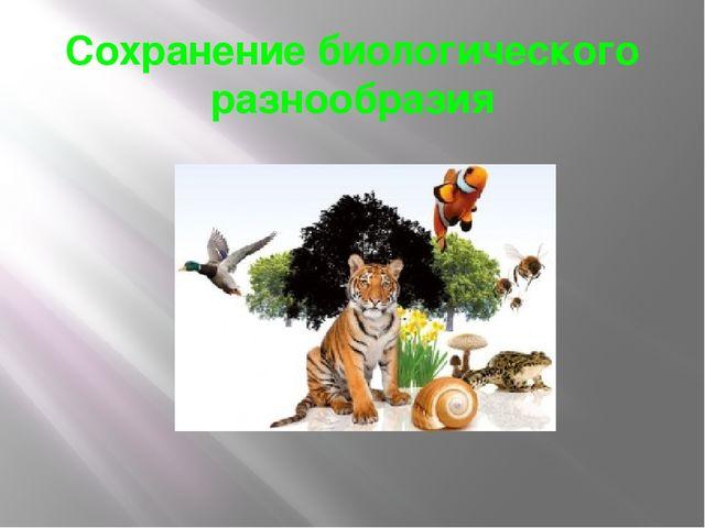 Сохранение биологического разнообразия