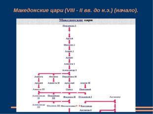 Македонские цари (VIII - II вв. до н.э.) (начало).
