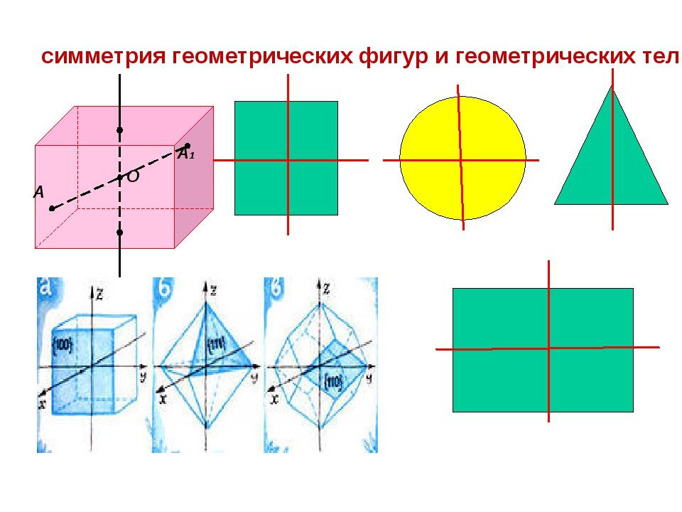 В геометрии: квадрат круг  треугольник прямоугольник симметрия геометрически...