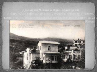 Дом-музей Чехова в Ялте (Белая дача) В Ялту Чехов переехал по совету врачей в