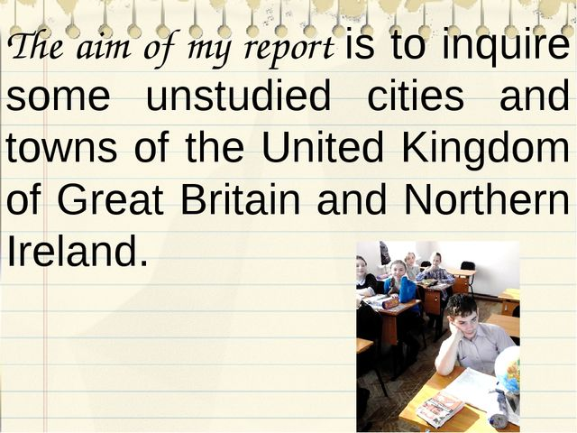 The aim of my report is to inquire some unstudied cities and towns of the Uni...