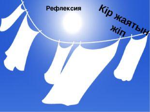 Кір жаятын жіп Рефлексия