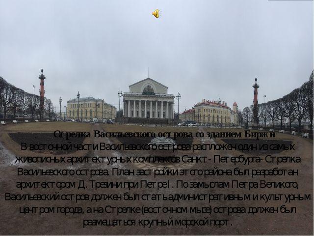 Стрелка Васильевского острова со зданием Биржи В восточной части Васильевско...