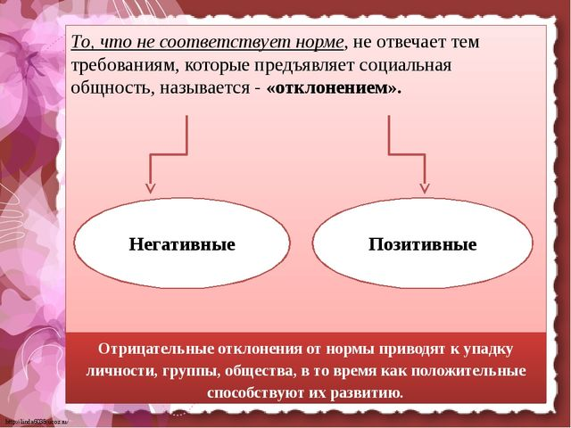 То, что не соответствует норме, не отвечает тем требованиям, которые предъяв...