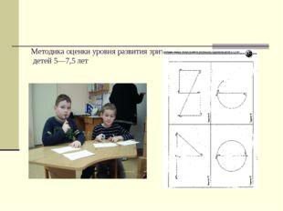 Методика оценки уровня развития зрительного восприятия детей 5—7,5 лет