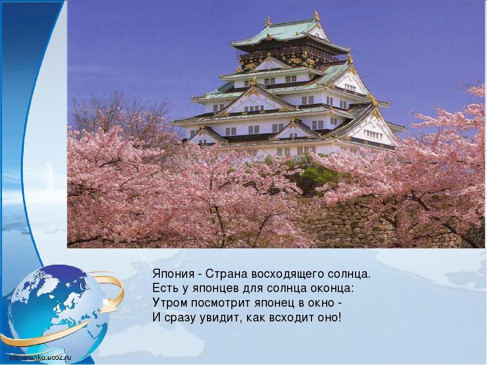 Япония - Страна восходящего солнца. Есть у японцев для солнца оконца: Утром п...