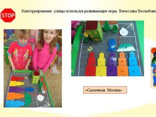 Конструирование улицы используя развивающие игры Вячеслава Воскобовича  «Ск